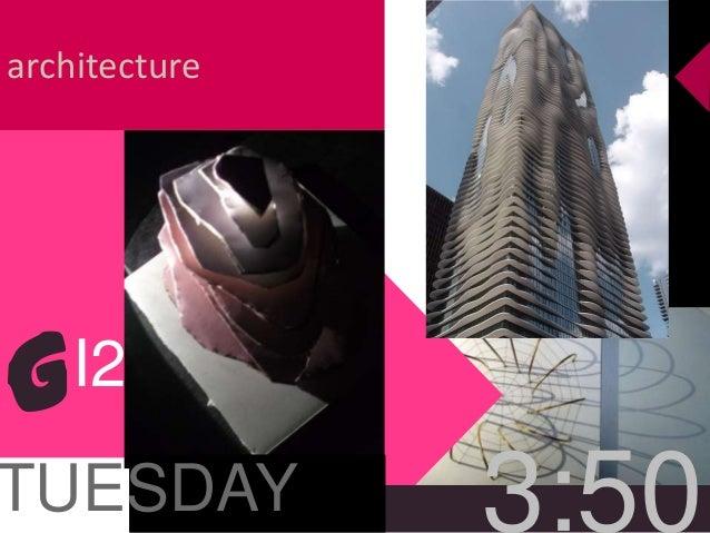 architecture TUESDAY 3:50 GI2