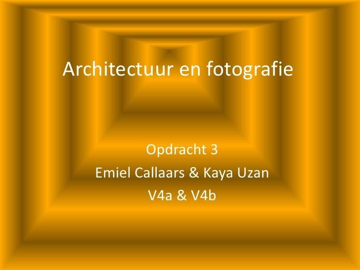 Architectuur En Fotografie Opdracht 3