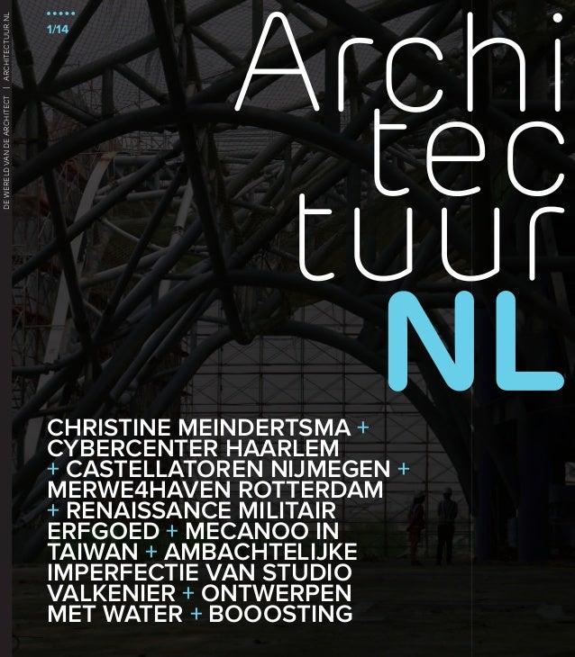 DE WERELD VAN DE ARCHITECT   ARCHITECTUUR.NL ARCHITECTUURNL   1/14  1/14  CHRISTINE MEINDERTSMA + CYBERCENTER HAARLEM + CA...