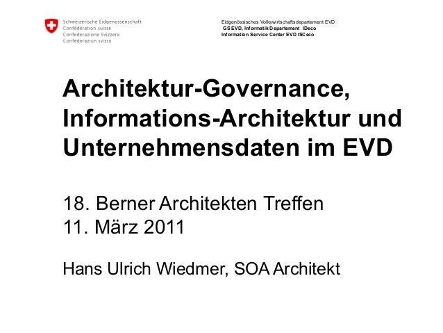 Eidgenössisches Volkswirtschaftsdepartement EVD                    GS EVD, Informatik Departement IDeco                   ...