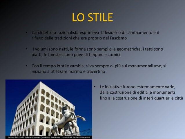 Architettura fascista for Architettura razionalista in italia