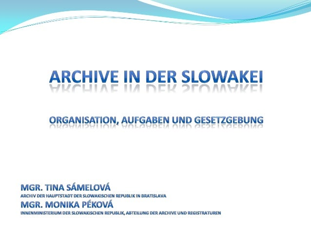 Archive in der Slowakei