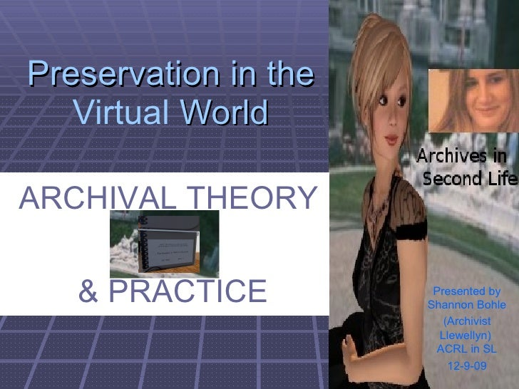 Archives In Second Life