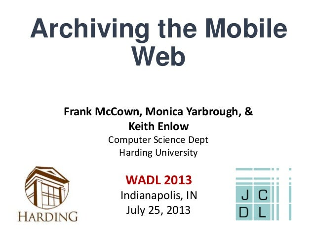 Archiving the Mobile Web