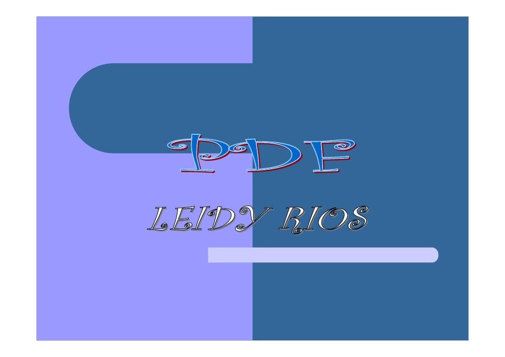 PDF o Portable Document Format es un formatoestándar de archivo electrónico, desarrollado porAdobe Inc. el cual permite la...