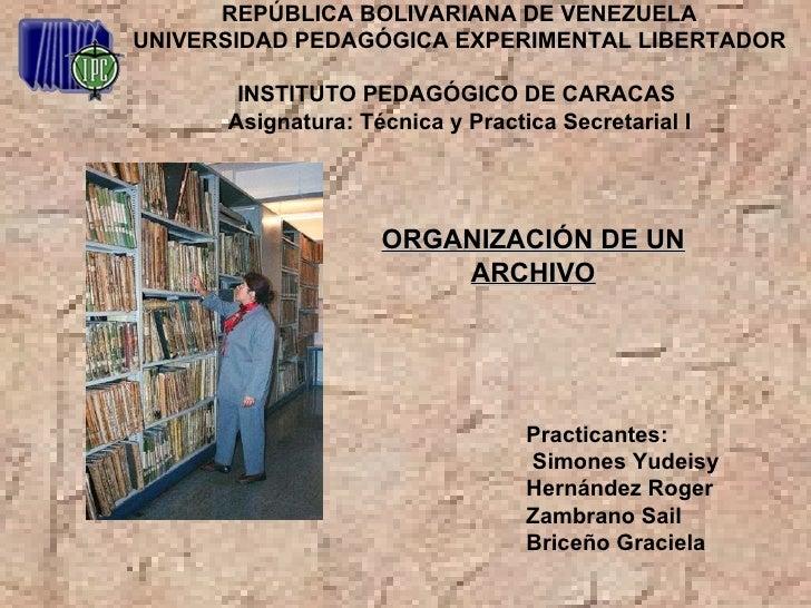 REPÚBLICA BOLIVARIANA DE VENEZUELA UNIVERSIDAD PEDAGÓGICA EXPERIMENTAL LIBERTADOR  INSTITUTO PEDAGÓGICO DE CARACAS  Asigna...