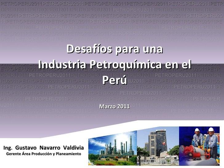 Gustavo Navarro. Desarrollo Petroquímico en el Perú