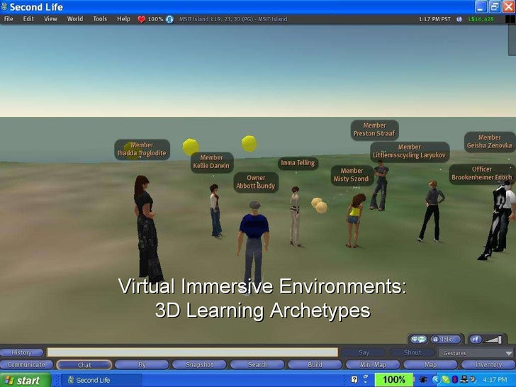Virtual Immersive Environments: 3D Learning Archetypes