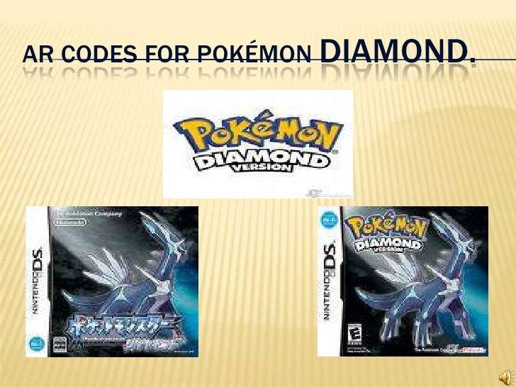 AR CODES FOR POKÉMON DIAMOND.