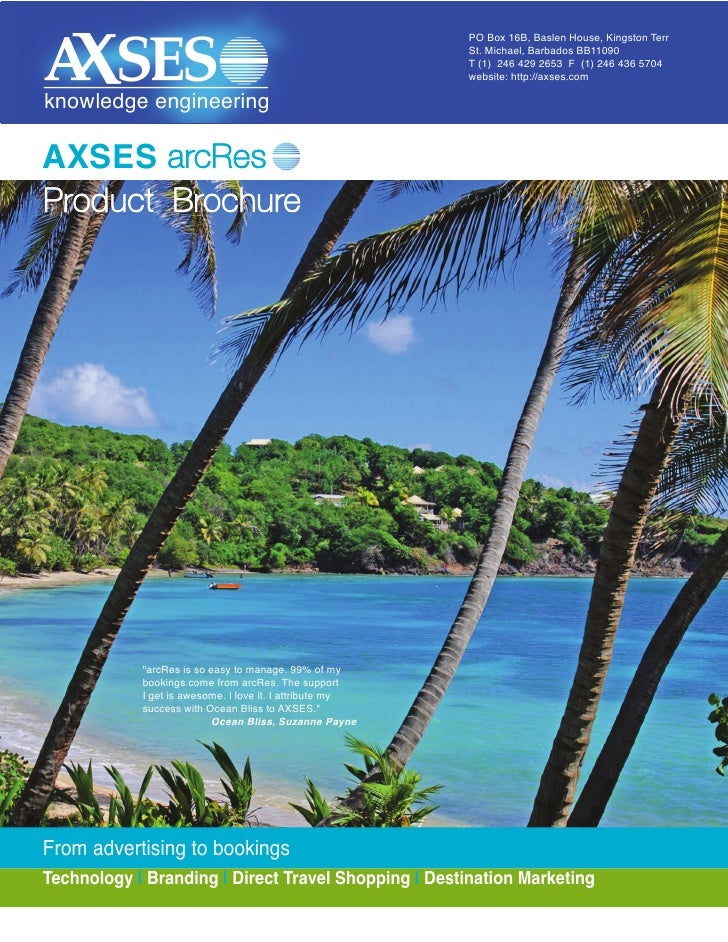AXSES arcRes Travel Platform- Brochure Magazine
