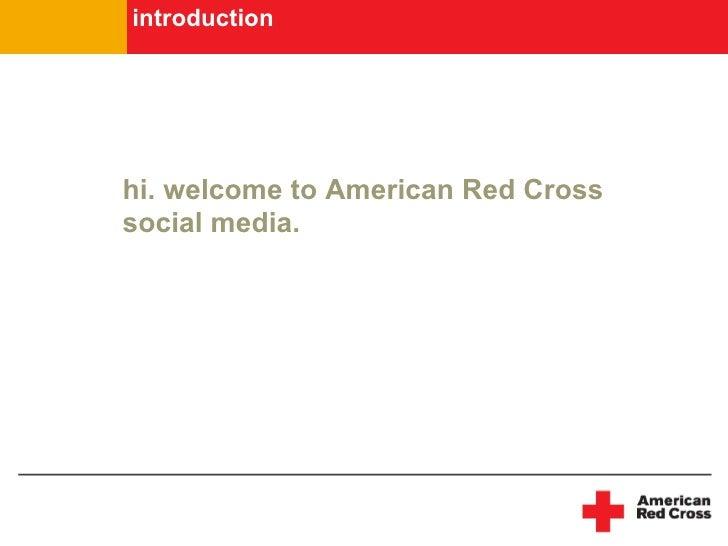 American Red Cross Social Media Guidelines