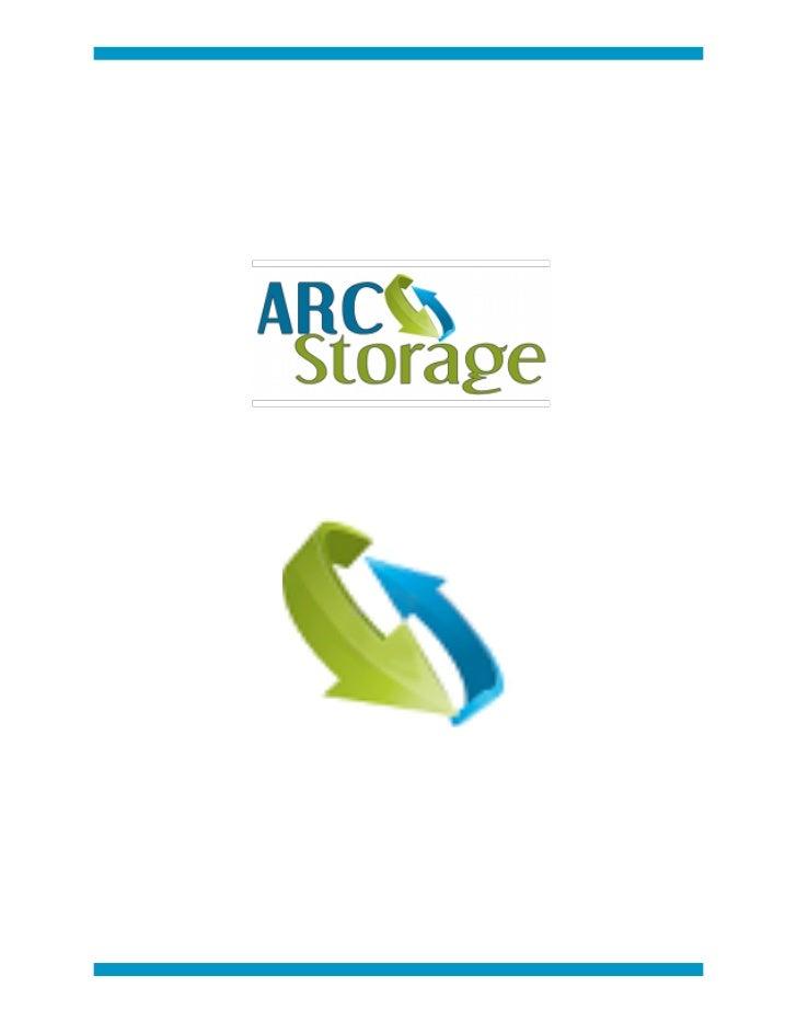 Arc Storage Intro Pdf