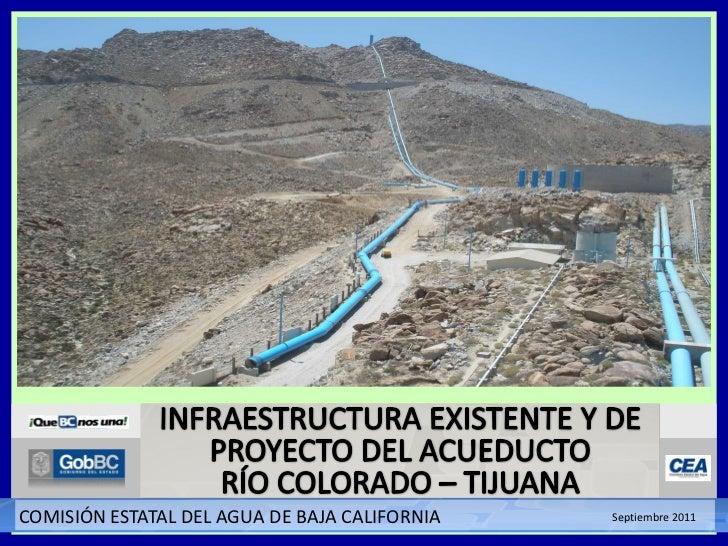 Infraestructura existente y de proyecto del acueducto Río Colorado-Tijuana