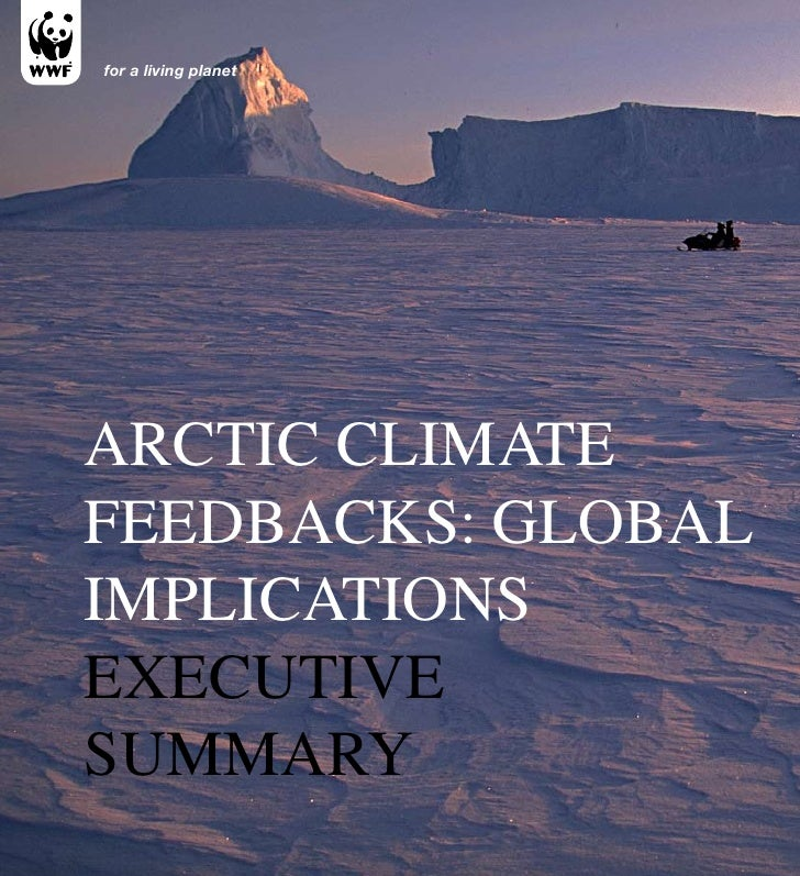 for a living planetArctic climAteFeedbAcks: GlobAlimplicAtionsexecutivesummAry