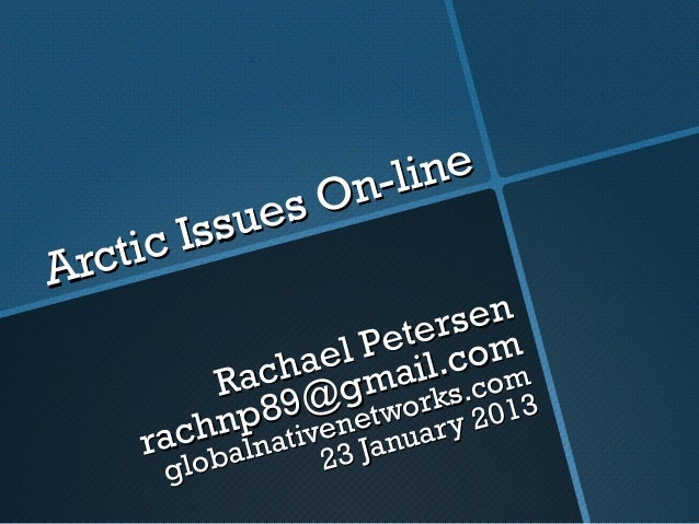Arctic Issues On-line: Decolonizing the digital North