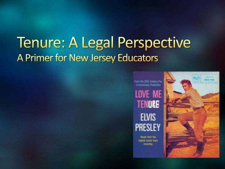 Tenure and NJ