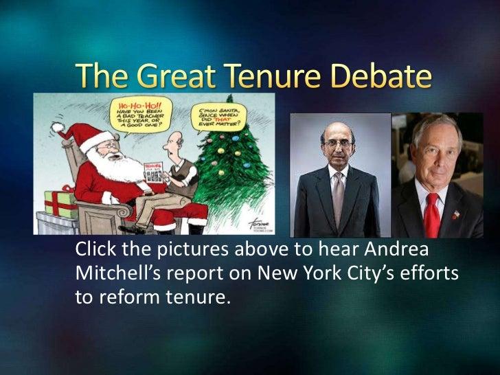 we must reform teacher tenure essay