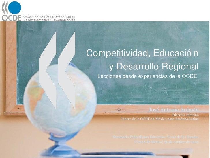 Competitividad Educacion Y Desarrollo Regional