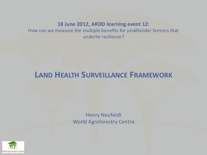 18 June 2012, ARDD learning event 12:How can we measure the multiple benefits for smallholder farmers that                ...