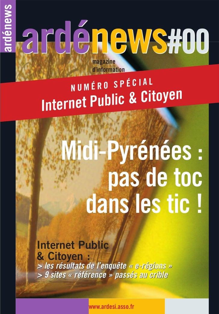 ardénews           ardénews#00      magazine                            d'information                            d'Ardési ...