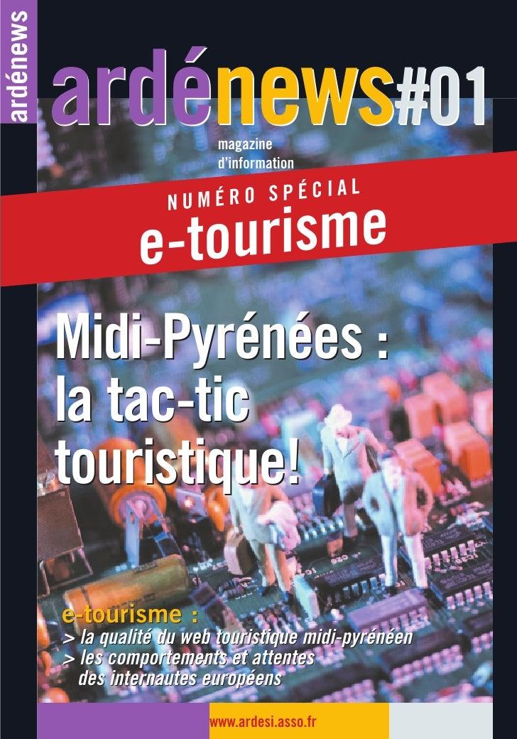 Ardénews#01 - Numéro spécial etourisme (2003)