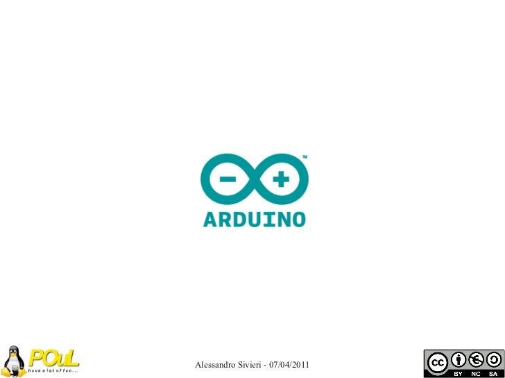 Conferenza Embedded - Arduino
