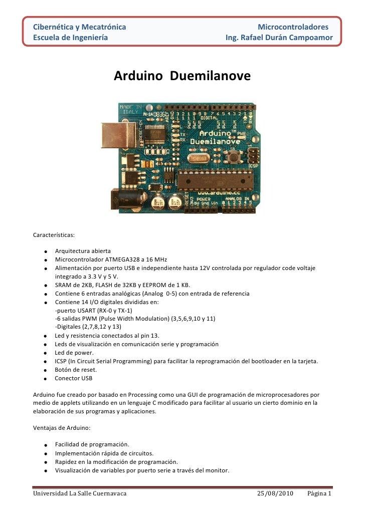 Cibernética y Mecatrónica                                                        MicrocontroladoresEscuela de Ingeniería  ...