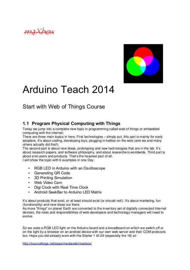 Arduino Teaching Program
