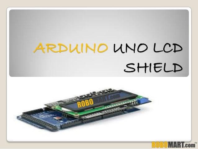 Arduino uno lcd shield by robomart