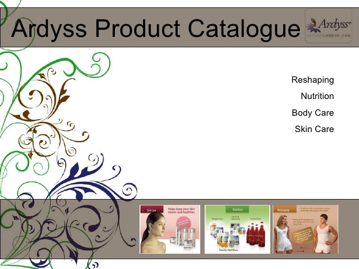 Ardyss Product Catalogue Reshaping Nutrition Body Care Skin Care