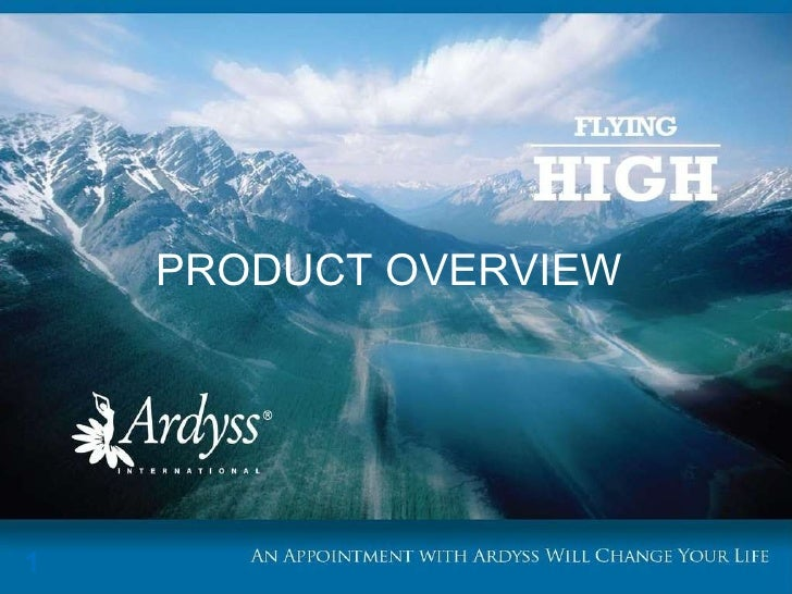Ardyss product overview 052010