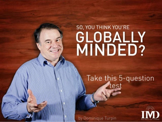 So, you think you are globally minded? Take this 5-question test
