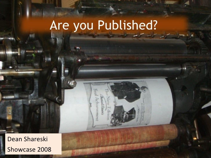 Are You Published?