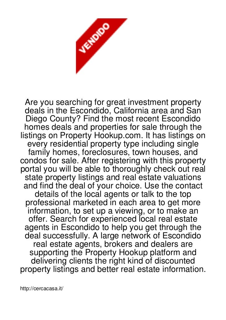 Are you searching for great investment property  deals in the Escondido, California area and San  Diego County? Find the m...