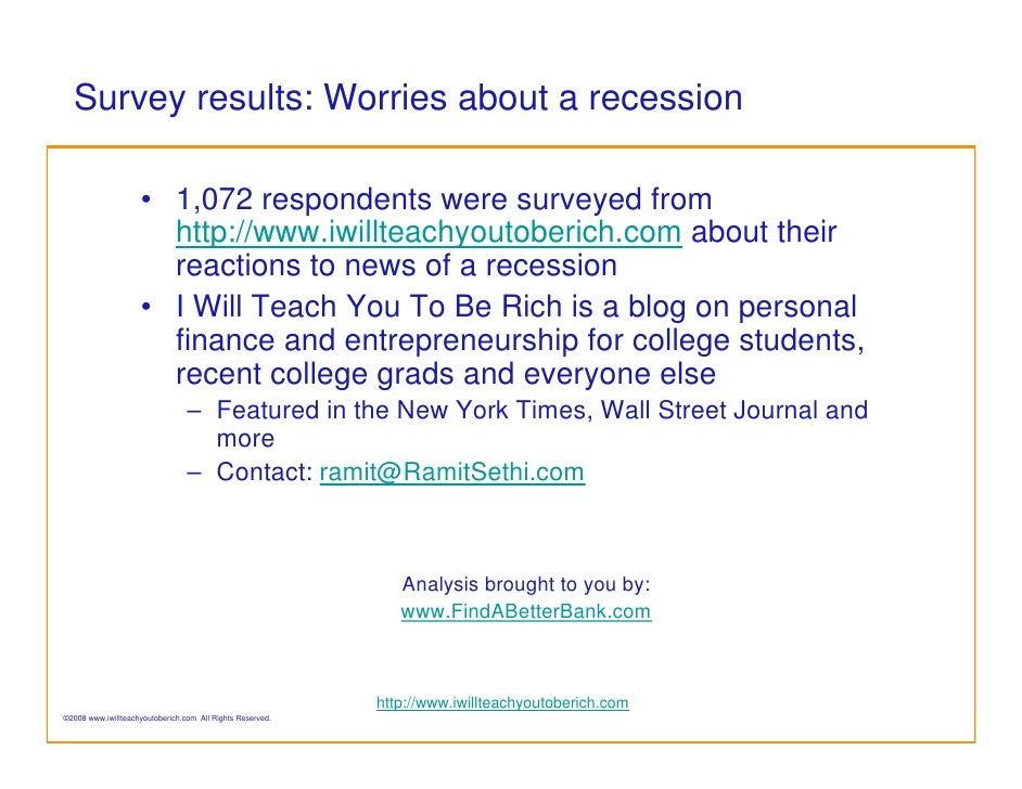 Are you spending less because of a possible recession?