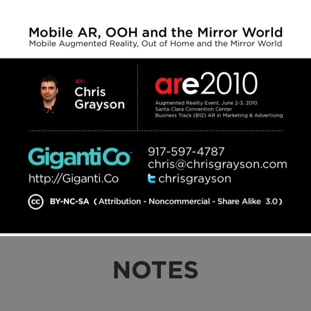 Mobile AR, OOH and the Mirror World