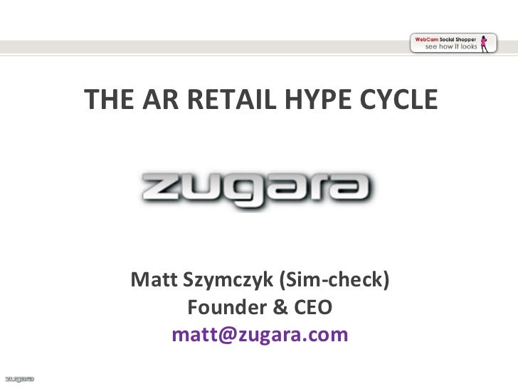 The Augmented Reality Retail Hype Cycle 2012