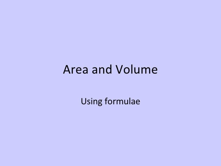 Area And Volume Spaced Learning