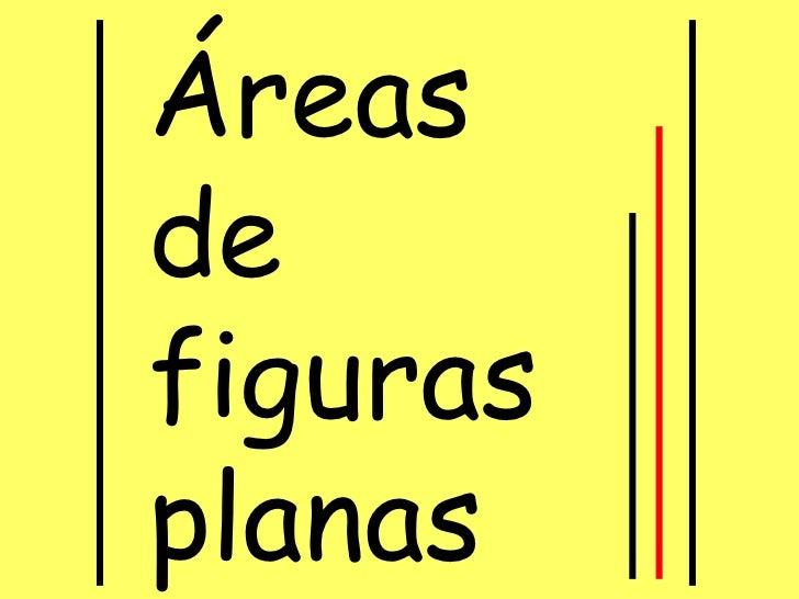 Area de las figuras planas  este
