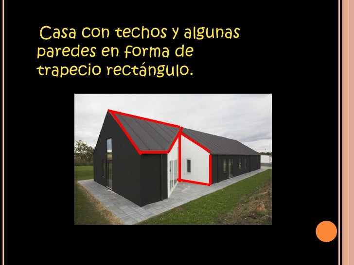 Area del trapecio for Formas de techos para casas