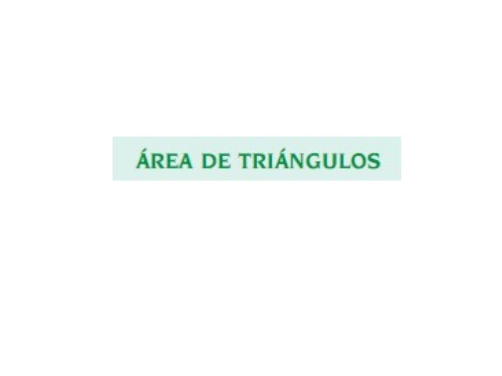 Area De Triangulos