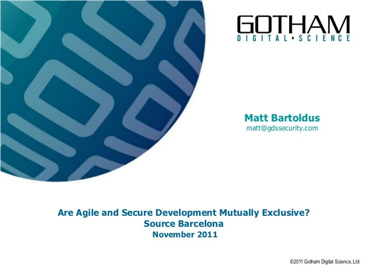 Are Agile And Secure Development Mutually Exclusive?