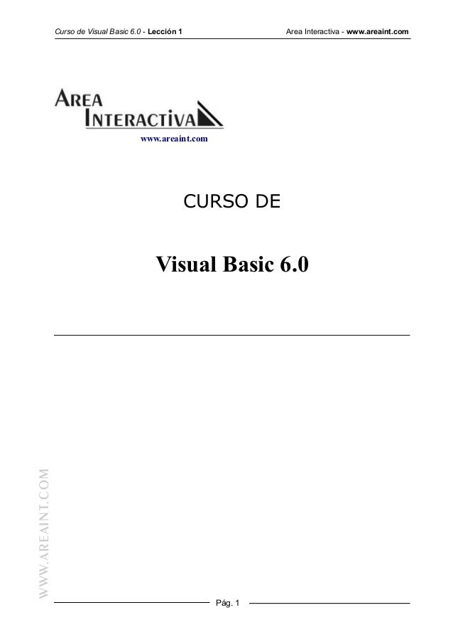 Area Interactiva - Curso de Visual Basic 6.0