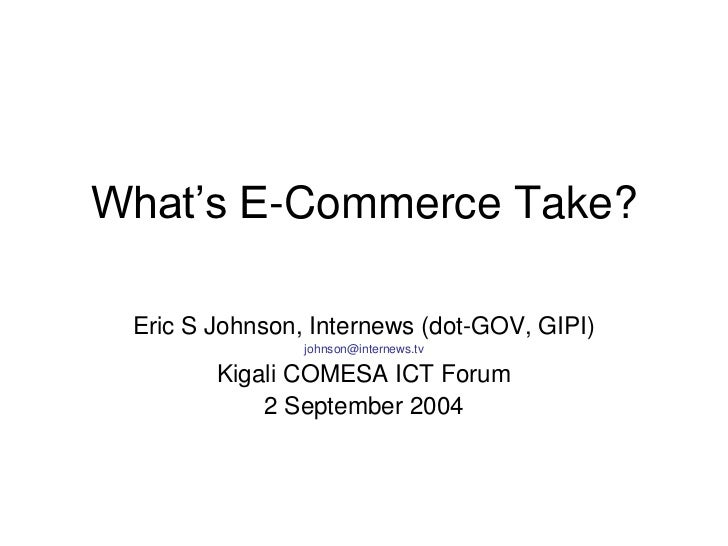 A realistic look at e commerce
