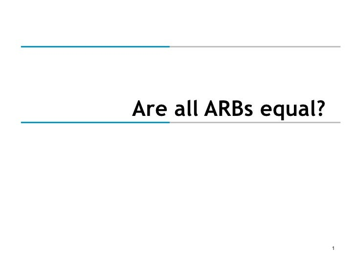 Are all ARBs equal?
