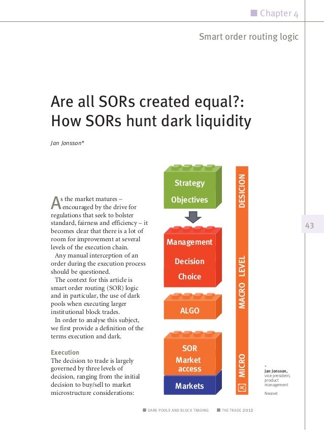 Are all SORs created equal,how sors hunt dark liquidity