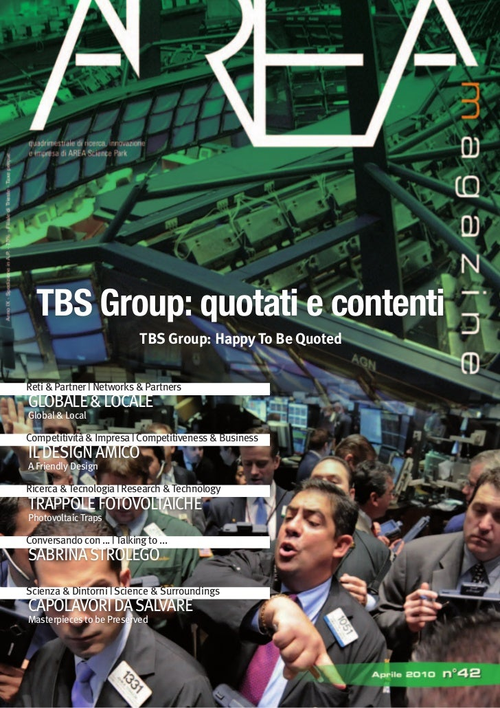TBS Group: quotati e contenti                             TBS Group: Happy To Be Quoted   Reti & Partner   Networks & Part...
