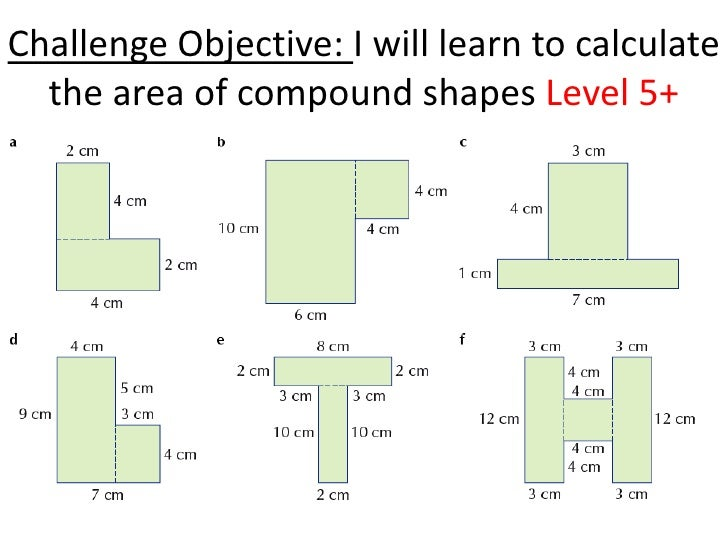 Find the perimeter and area of compound shapes (not drawn to scale ...