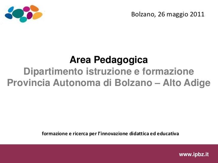Area Pedagogica 2011