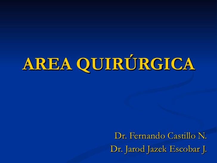 AREA QUIRÚRGICA Dr. Fernando Castillo N. Dr. Jarod Jazek Escobar J.